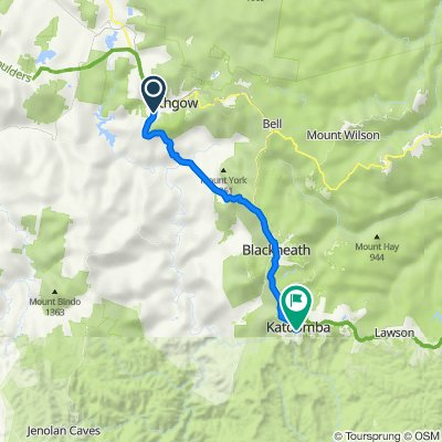 Lithgow Bike Trail Route (Perfect for E-Bike)