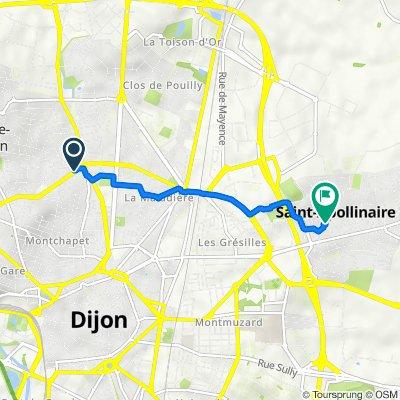 De 30 Rue de la Bresse, Fontaine-lès-Dijon à 109 Rue Saint-Jean, Saint-Apollinaire
