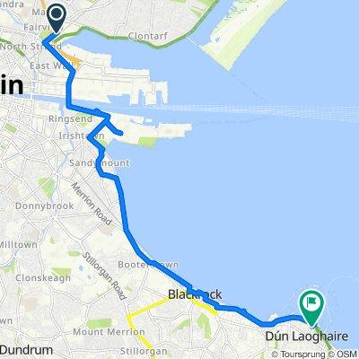 4 Alfie Byrne Road, Dublin to Dun Laoghaire Stn, Dublin