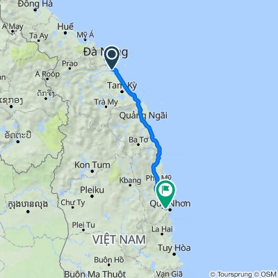 Riding from Hoi An to Quy Nhon