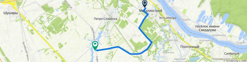 От Садовая улица 2, Санкт-Петербург до Софийская улица, Санкт-Петербург