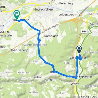 Route nach Blindendorfer Straße 27, Ternitz