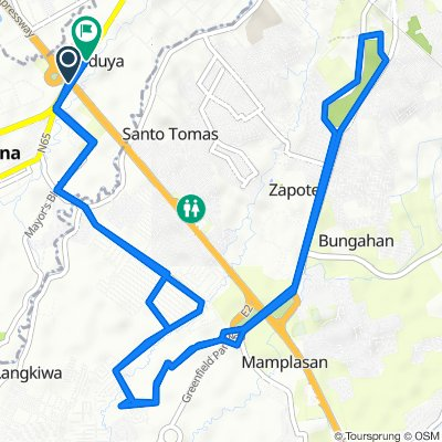 Route from South Luzon Expressway, Carmona
