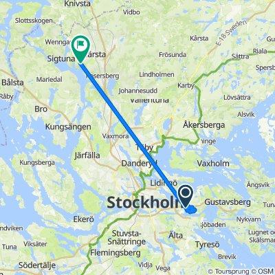 От Kvarnvägen 14B до Steninge Slottsväg 154