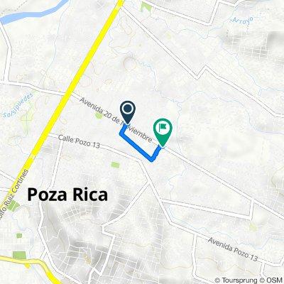 De Calle 16 304, Poza Rica de Hidalgo a Avenida 20 de Noviembre 1198, Poza Rica de Hidalgo