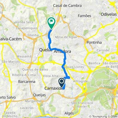De Praceta Eugénio de Castro 10B, Carnaxide a Rua Norton de Matos 36B, Belas