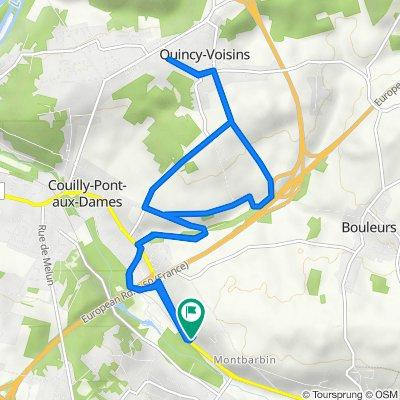 De 100 Avenue de l'Ensoleillée, Couilly-Pont-aux-Dames à 577 Rue de Crécy, Couilly-Pont-aux-Dames
