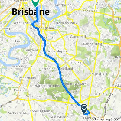 Bleasby Road 143, Eight Mile Plains to Adelaide Street 320, Brisbane City