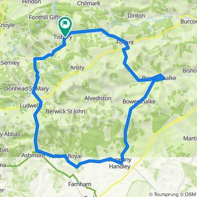 Tisbury - Sixpenny Handley - Broad Chalke loop