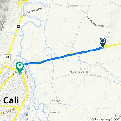De Vía Palmira - Cali, Galicia a Carrera 1a 6 #68-120, Cali