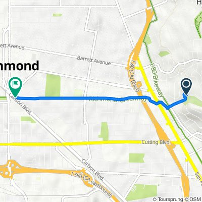 5708 Fern St, El Cerrito to San Francisco Bay Trail, Richmond