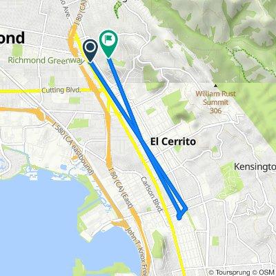 12010 San Pablo Ave, El Cerrito to 5708 Fern St, El Cerrito