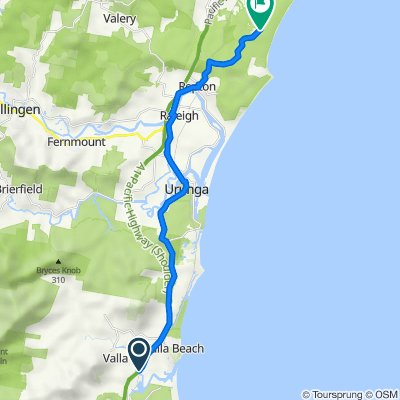 Giinagay Way, Valla to Overhead Bridge Road, Bundagen (perfect for E-bike)