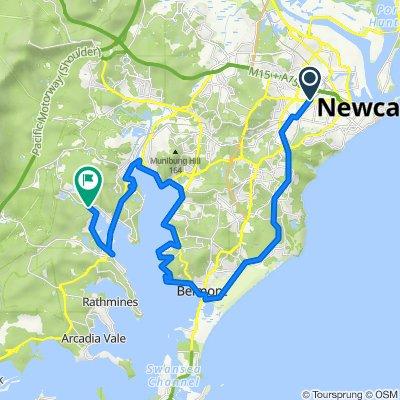 Broadmeadow to Fassifern via Fernleigh  Bike Trail (Perfect for E-bike)