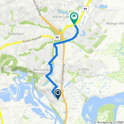 2 Barrington Close, Murrumba Downs to Anzac Avenue, Mango Hill