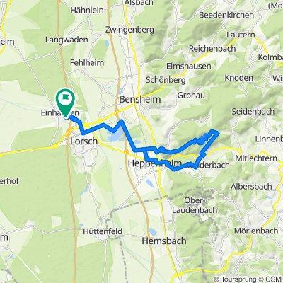 Heppenheim: Starkenburg - Jägerrast-Weg