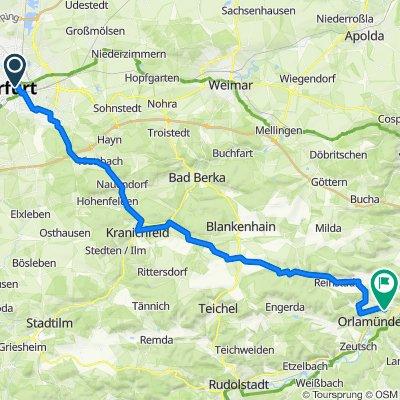 Erfurt - Rudolstadt