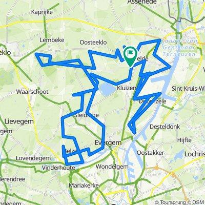 MTB Evergem • Combinatie 3 lussen - 109 km