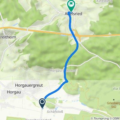 A5, Horgau nach Augsburger Straße 3, Adelsried