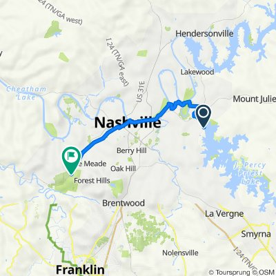 MCB Nashville greenway 23.5 miles