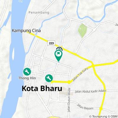 1143, Jalan Kebun Sultan, Kota Bharu to Jalan Kebun Sultan, Kota Bharu