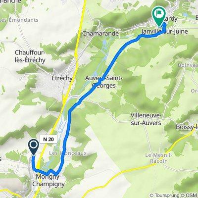 De 21 Rue des Rochettes, Morigny-Champigny à 2–2A Rue Grande, Lardy