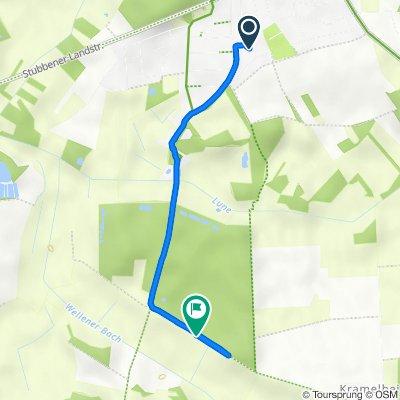 Route von Marienburger Straße 4, Beverstedt