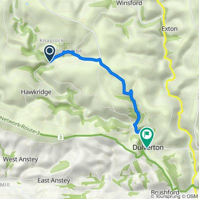 Two Moors Way, Dulverton to 24 High St, Dulverton