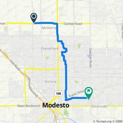 1601 Kiernan Ave, Modesto to 415 Parry Ave, Modesto