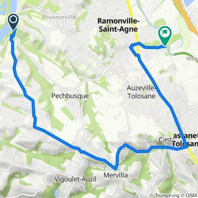 De 140 Chemin des Étroits, Toulouse à 44 Rue Romain Rolland, Ramonville-Saint-Agne