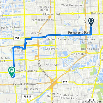 1000 NW Eighth Ave, Hallandale Beach to 3881 NW 176th Terr, Miami Gardens