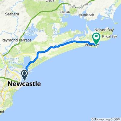 Stockton to Anna Bay Newcastle Bike Trail (Perfect for E-bike)