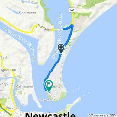 Restful route in Stockton Newcastle Bike Trail (Perfect for E-bike)