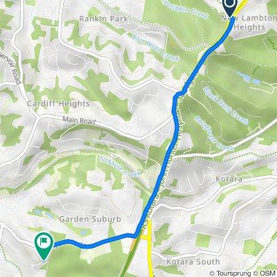 New Lambton Heights to  11ACardiff Newcastle Bike Trail