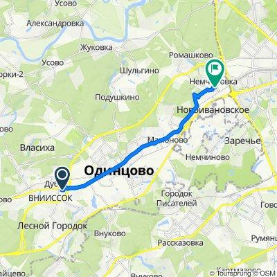 От улица Михаила Кутузова, 7, Одинцово до 1-й просек, 2A, Одинцово
