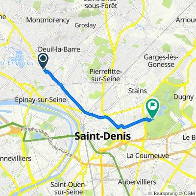 8 Rue d'Ormesson, Deuil-la-Barre to Parc Départemental de la Courneuve, Saint-Denis