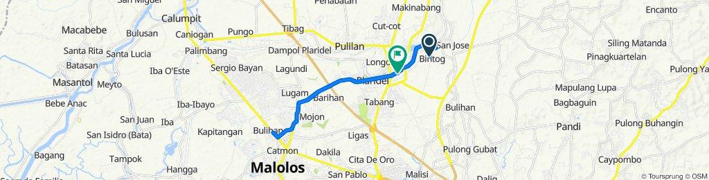 Route to General Alejo Santos Highway, Plaridel