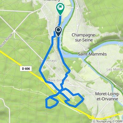 De 29 Chemin des Roches Courteaux, Thomery à 144 Rue du 4 Septembre, Thomery