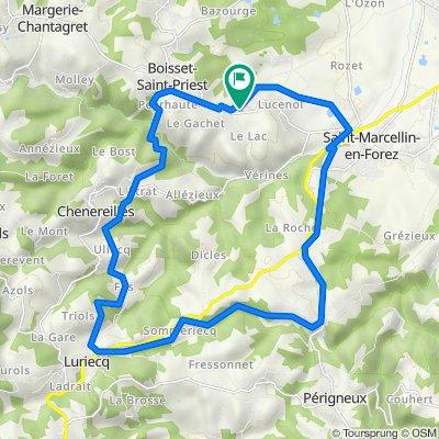 De 74 Chemin du Lac, Boisset-Saint-Priest à 74 Chemin du Lac, Boisset-Saint-Priest