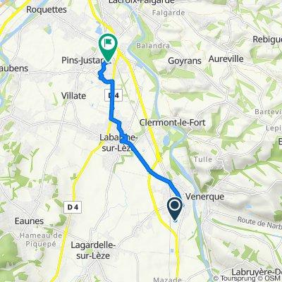 De 103 Chemin de Bel-Air, Vernet à Avenue de la Gare, Pins-Justaret