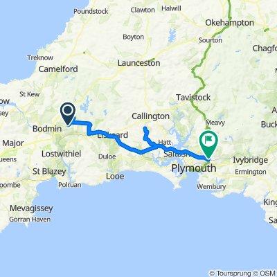 Pool Lane, Cardinham, Bodmin to Coypool Road, Plympton, Plymouth