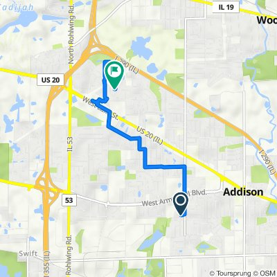 613 W Moreland Ave, Addison to 1216 N Ashley Ln, Addison