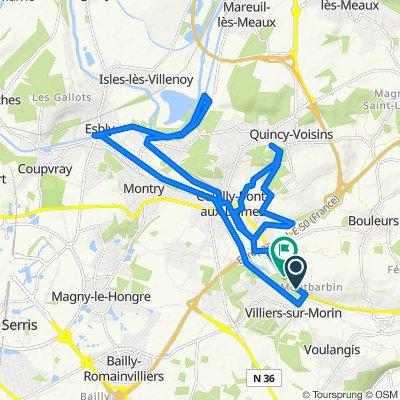 De 48 Avenue de l'Ensoleillée, Crécy-la-Chapelle à 577 Rue de Crécy, Couilly-Pont-aux-Dames