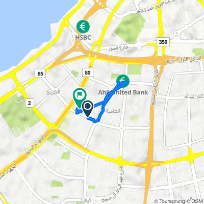 Abdulla Al Mijrin Al Roumi Street 59, Kuwait City to Street 37 29, Kuwait City