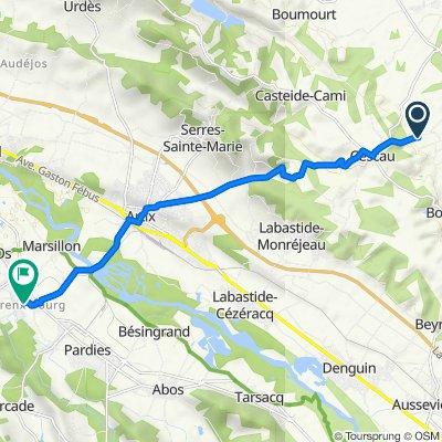 De 4–205 Route Lamarlère, Viellenave-d'Arthez à 24 Rue Charles Moureu, Mourenx