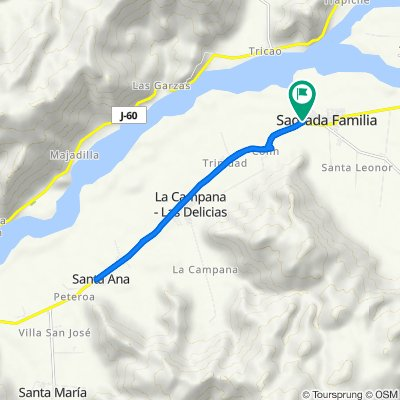 De Río Claro, Sagrada Familia a Río Claro, Sagrada Familia