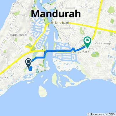 8 Birtles Grove, Mandurah to Coodanup Drive, Mandurah
