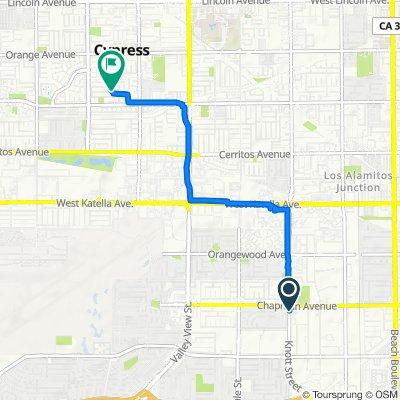 12022 Knott St, Garden Grove to 5225 Brunswick Dr, Cypress