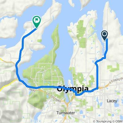 5925 Sleepy Hollow Ln NE, Olympia to 7073–7099 Olympic St NW, Olympia