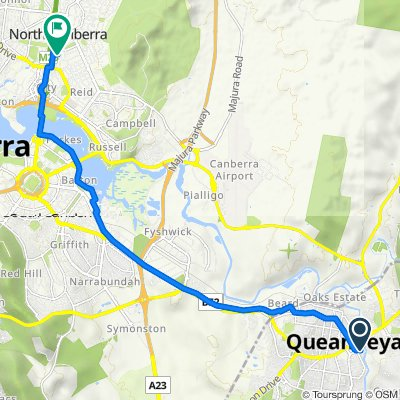 To Gym Queanbeyan Bike Trail (Perfect for E-bike)